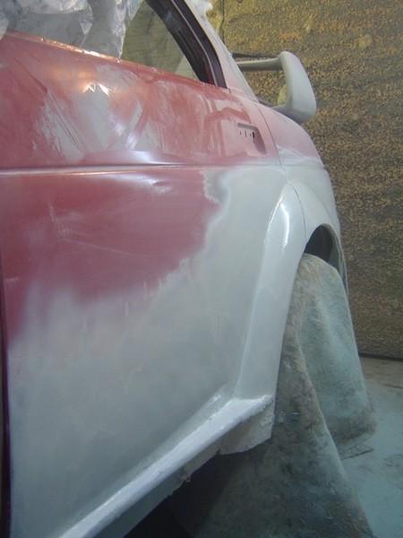 Затирка кузова ВАЗ 2110 перед покраской