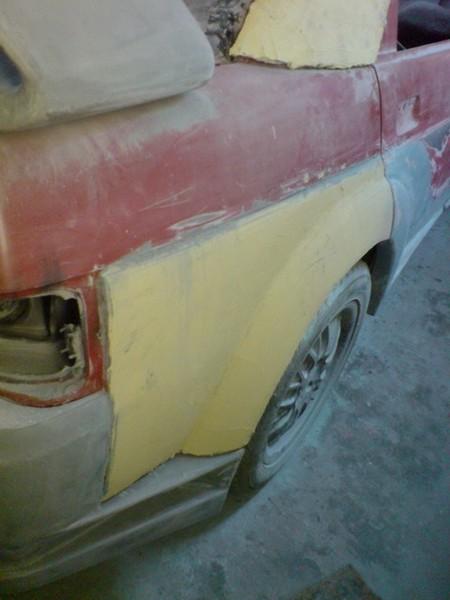 Подготовка к покраске: задние крылья ВАЗ 2110